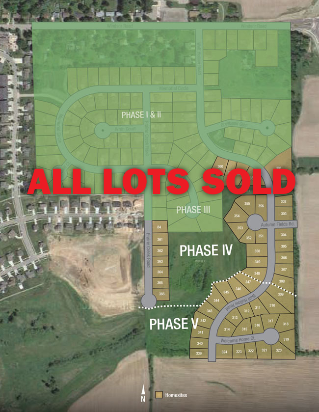 wolf hollow plat - Homesites for sale in Windsor WI by Neumann Developments, Inc.